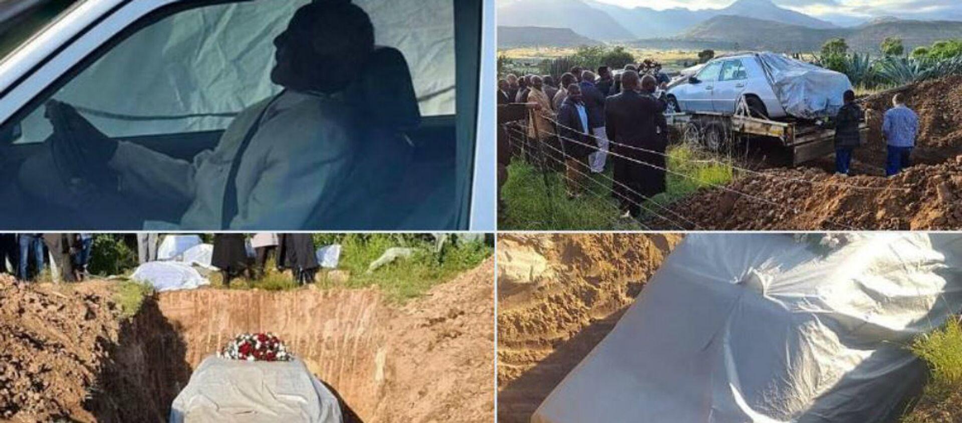 Φύλαρχος στη Νότια Αφρική θάφτηκε στην αγαπημένη του Mercedes - Sputnik Ελλάδα, 1920, 02.04.2020