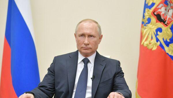 Διάγγελμα του Ρώσου Προέδρου Βλαντίμιρ Πούτιν για τον κορονοϊό - Sputnik Ελλάδα