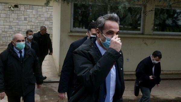 Επίσκεψη του Μητσοτάκη στο Νοσοκομείο Σωτηρία - Sputnik Ελλάδα