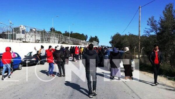Συμπλοκή στη Μόρια - Sputnik Ελλάδα