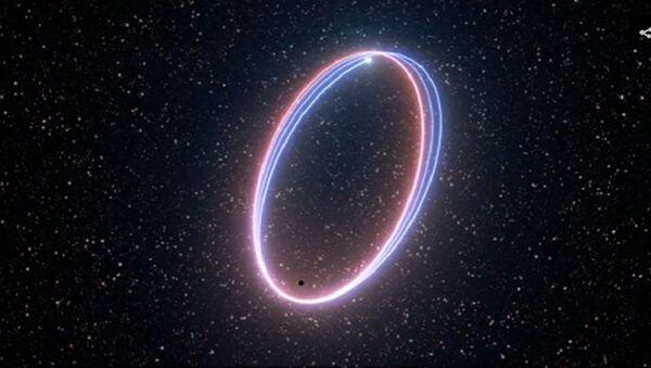 Η σπειροειδής τροχιά του άστρου S2 γύρω από τη μαύρη τρύπα Sagittarius A* - Sputnik Ελλάδα