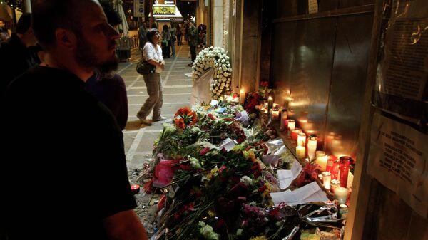 Εικόνες από τη Σταδίου, μετά από τον θάνατο των τριών ανθρώπων. - Sputnik Ελλάδα
