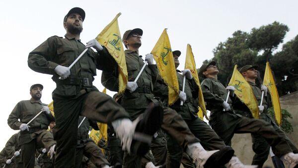 Παρέλαση μελών της Χεζμπολάχ - Sputnik Ελλάδα