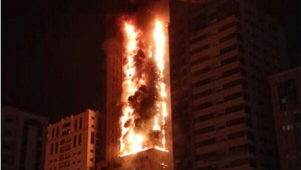 Φωτιά σε ουρανοξύστη στην πόλη Σάρτζα των Ηνωμένων Αραβικών Εμιράτων, 5 Μαΐου 2020 - Sputnik Ελλάδα