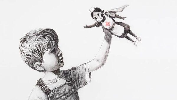 Νέο έργο Banksy - Sputnik Ελλάδα