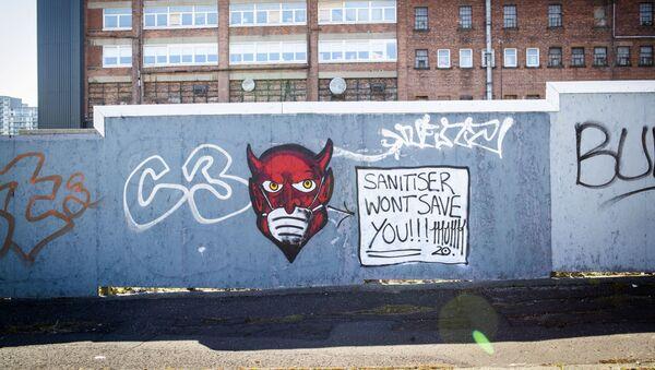 Γκράφιτι για τον κορονοϊό στη Σκωτία, Απρίλιος 2020 - Sputnik Ελλάδα