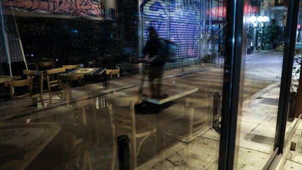 Σαββατόδραδο με κλειστά μπαρ στο κέντρο της Αθήνας, 21 Μαρτίου, 2020 - Sputnik Ελλάδα