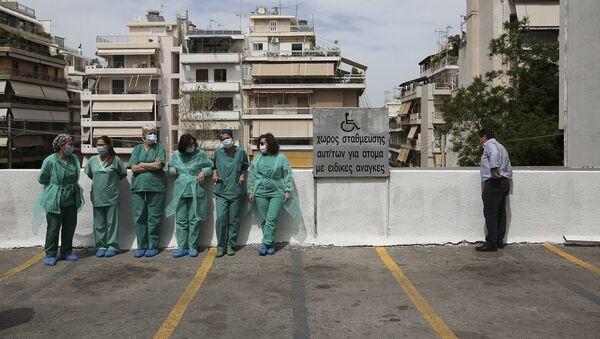 Νοσηλευτές σε νοσοκομείο της Αθήνας - Sputnik Ελλάδα
