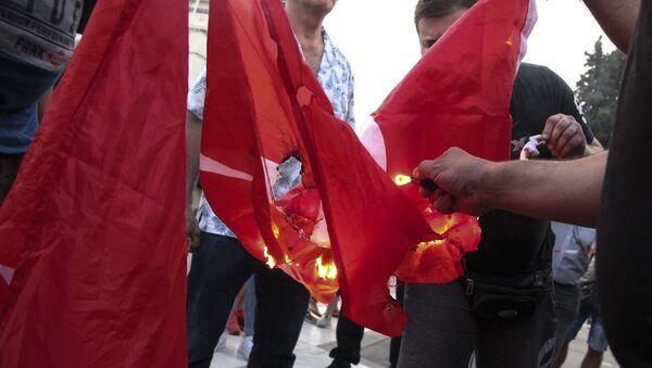 Έκαψαν τουρκική σημαία στη συγκέντρωση για τη Γενοκτονία των Ποντίων - Sputnik Ελλάδα