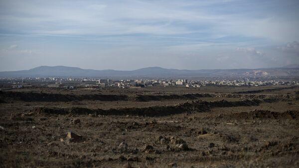 Άποψη των υψιπέδων του Γκολάν από τη Συρία - Sputnik Ελλάδα