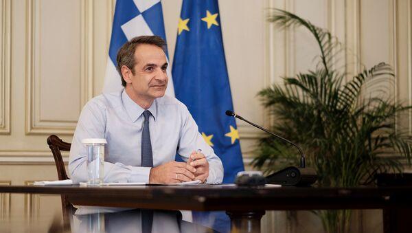 Τηλεδιάσκεψη Μητσοτάκη - Sputnik Ελλάδα