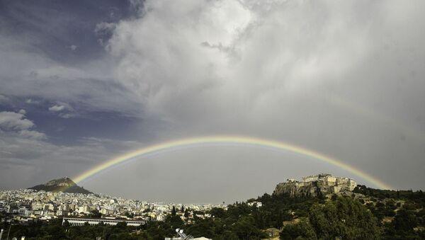 Ουράνιο τόξο πάνω απο την Ακρόπολη, Αθήνα, 28 Μαΐου 2020 - Sputnik Ελλάδα