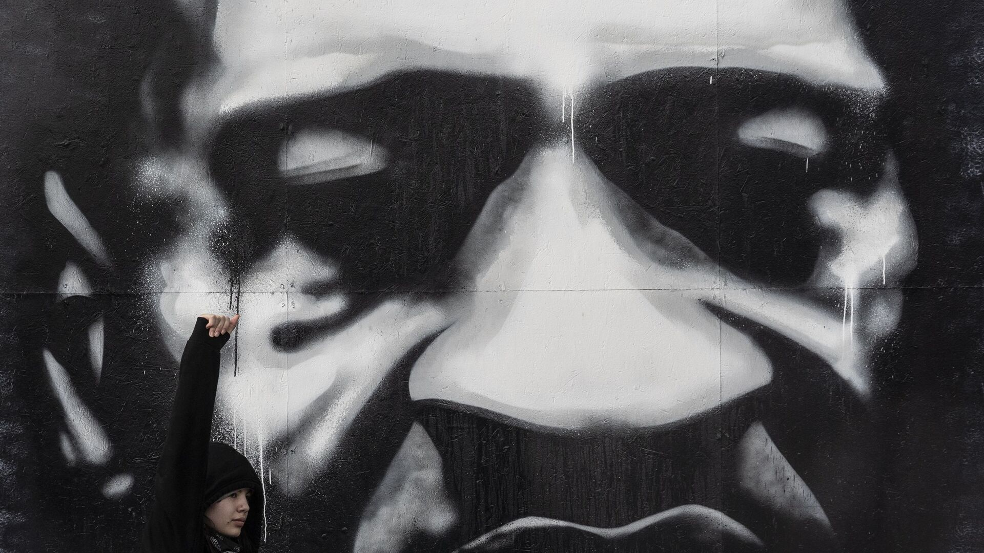 Γκράφτι με τον Τζορτζ Φλόιντ - Sputnik Ελλάδα, 1920, 05.10.2021