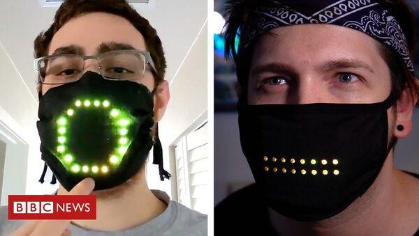 Μάσκα προσώπου που φωτίζεται ανάλογα με την ομιλία μας - Sputnik Ελλάδα