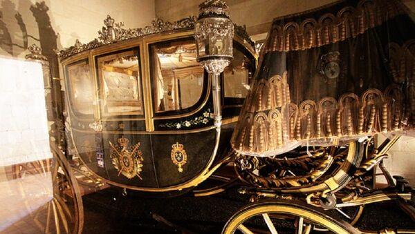 Άμαξα που ανήκει στη συλλογή του κόμη του Σαμπόρ, στο Château de Chambord έξω από το Παρίσι - Sputnik Ελλάδα