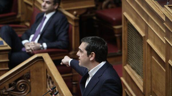 Ο Κυριάκος Μητσοτάκης και ο Αλέξης Τσίπρας - Sputnik Ελλάδα
