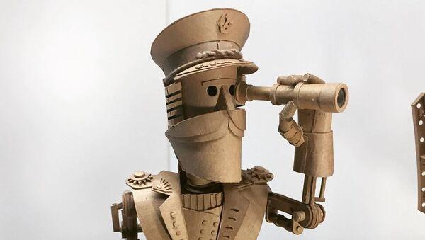 Ρομπότ από χαρτόνι - Sputnik Ελλάδα