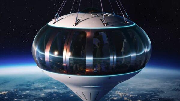 Η κάψουλα Ποσειδώνας που με μπαλόνι θα μεταφέρει επιβάτες στη στρατόσφαιρα - Sputnik Ελλάδα