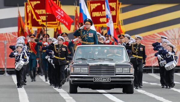Ρωσικά στρατεύματα στην παρέλαση για την Ημέρα της Νίκης - Sputnik Ελλάδα