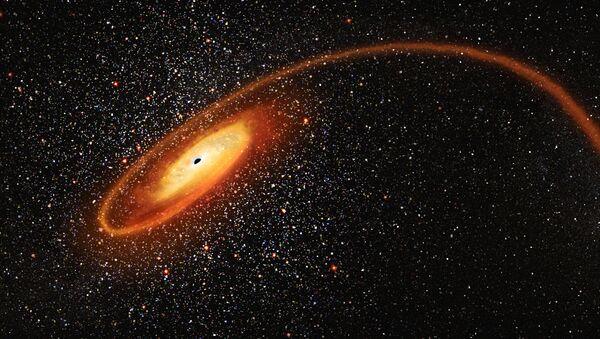 Μια μαύρη τρύπα (καλλιτεχνική αναπαράσταση) - Sputnik Ελλάδα
