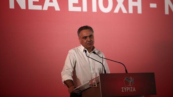 Ο Πάνος Σκουρλέτης στη συνεδρίαση της Κεντρικής Επιτροπής του ΣΥΡΙΖΑ - Sputnik Ελλάδα