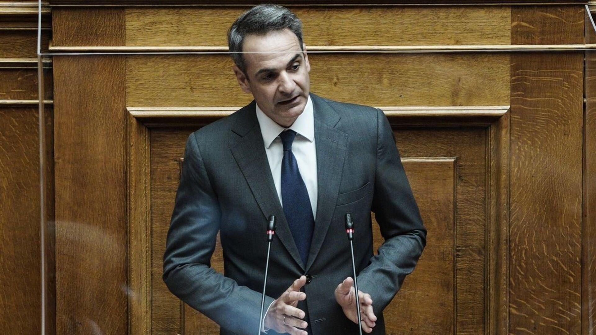 O Κυριάκος Μητσοτάκης στη Βουλή - Sputnik Ελλάδα, 1920, 07.10.2021