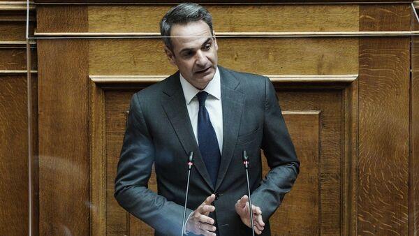 O Κυριάκος Μητσοτάκης στη Βουλή - Sputnik Ελλάδα