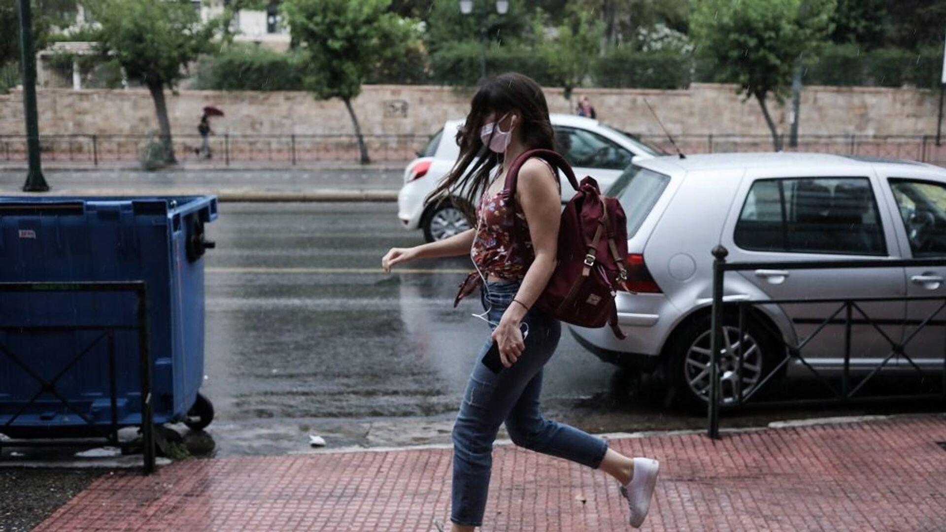 Βροχή στο κέντρο της Αθήνας, Ιούνιος 2020 - Sputnik Ελλάδα, 1920, 22.09.2021