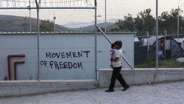 Καταυλισμός στη Μόρια.  - Sputnik Ελλάδα