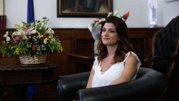 Η υπουργός Μακεδονίας -Θράκης Κατερίνα Νοτοπούλου - Sputnik Ελλάδα