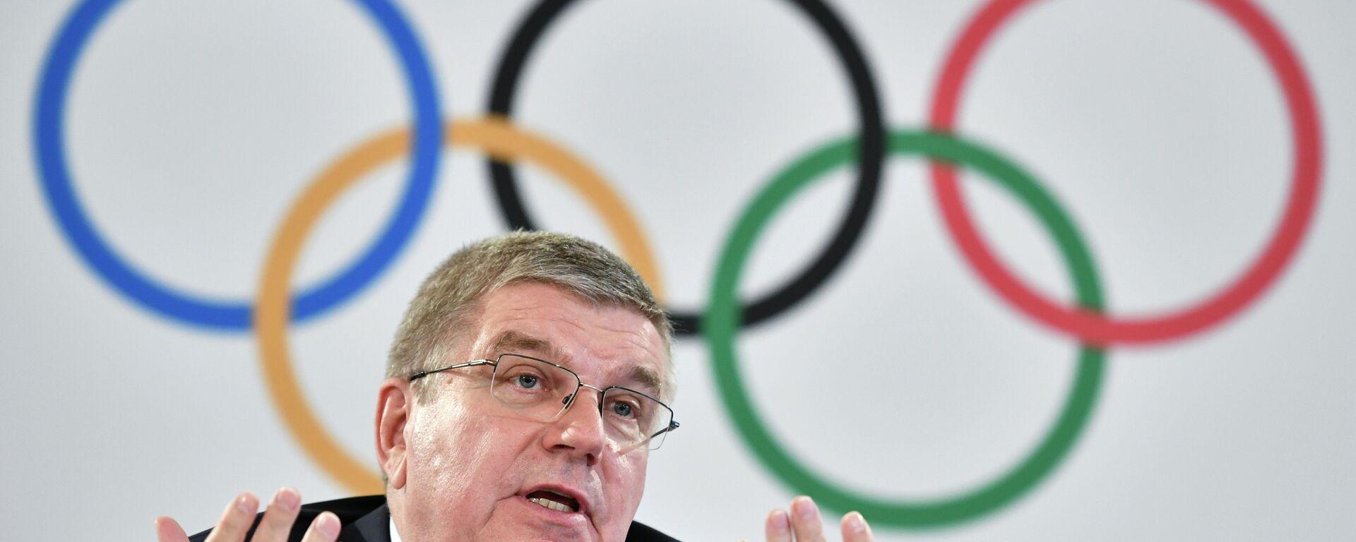Ο πρόεδρος της Διεθνούς Ολυμπιακής Επιτροπής Τόμας Μπαχ - Sputnik Ελλάδα, 1920, 27.01.2021